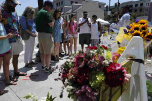 Vigil for victims of Charleston church shooting, from npr.org