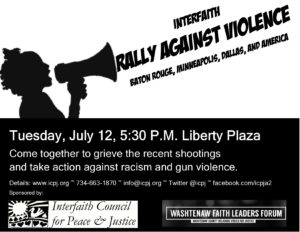 July 12 Rally Against Violence Poster