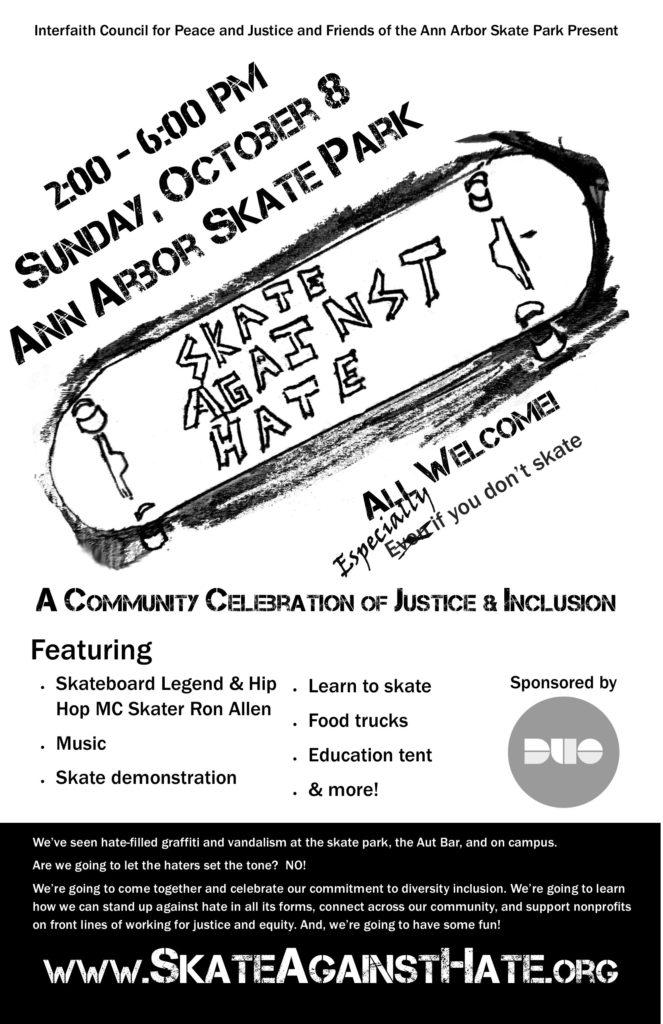 Skate Against Hate poster