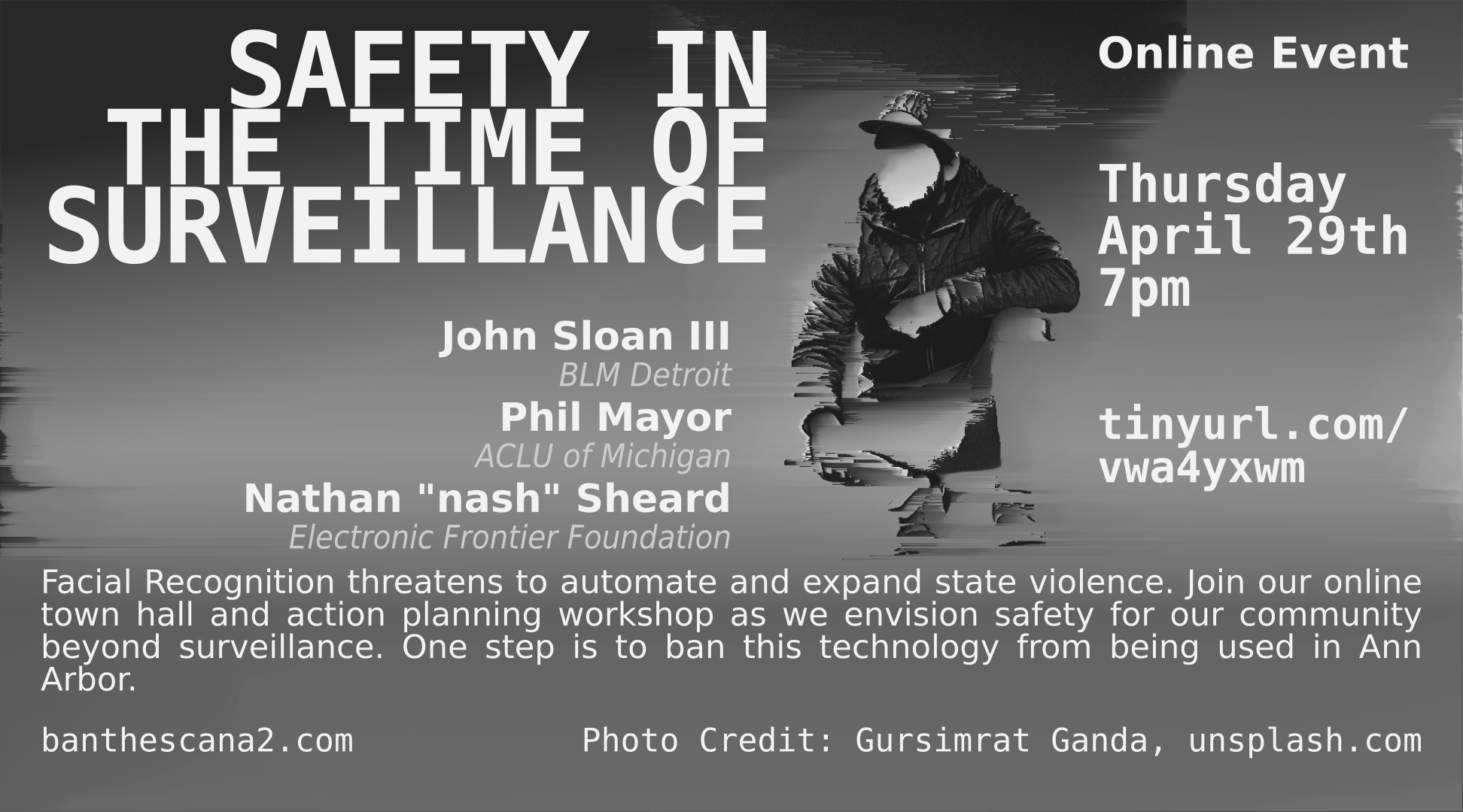 Safety in the Time of Surveillance: Ban the Scan Ann Arbor Town Hall